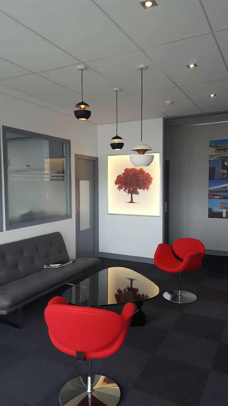 Relooking d'intérieur accueil de bureau à Carpiquet (près de Caen) dans le Calvados 14