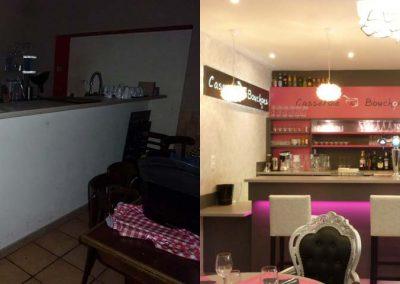 Avant et Après Comptoir-bar accueil restaurant à Caen (Calvados -14) en Normandie