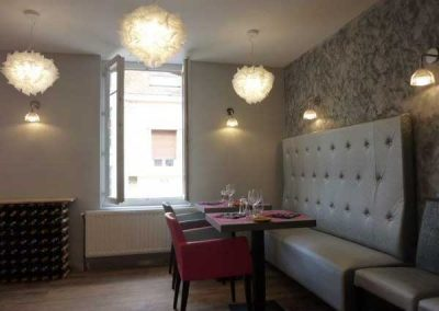 Agencement et mobilier d'un restaurant à Ouistreham (Caen la mer) - Luminaires