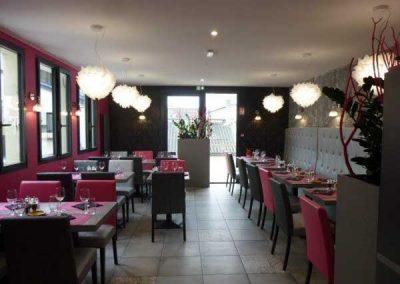 Agencement et équipement en mobilier de restaurant à Ouistreham (Caen la mer) dans le Calvados en Normandie