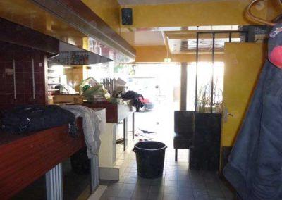 Avant Travaux restaurant à Ouistreham (Caen la mer) - Comptoir bar