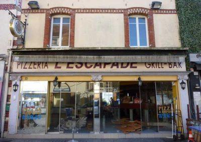 Avant Travaux restaurant à Ouistreham (Caen la mer) - Façade