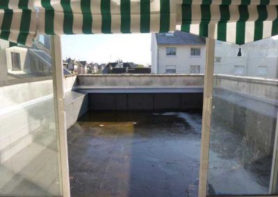 Avant Travaux restaurant à Ouistreham (Caen la mer) - Terrasse