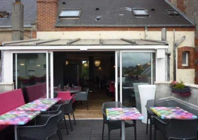 Agencement d'un restaurant à Ouistreham (Caen la mer) - Mobilier terrasse