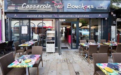 Agencement et mobilier du restaurant Casserole & Bouchons à Ouistreham, près de Caen