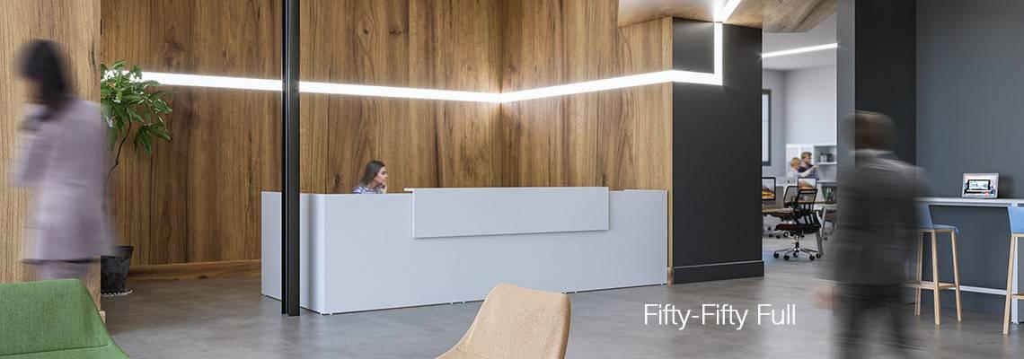 Comptoir, banque d'accuei bureau LED -  à Caen (Calvados - 14) en Normandie