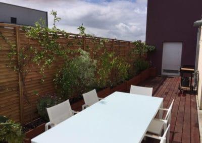 Relooking terrasse d'un appartement près de Caen / Après Travaux