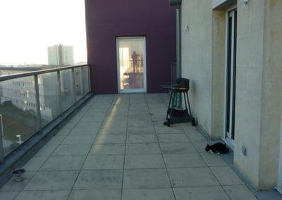 Relooking terrasse d'un appartement près de Caen / Avant Travaux