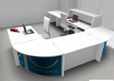 mobilier d'accueil de bureau à Caen - Visuel 3D