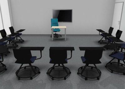 tables et chaises salle de formation à Caen - Visuels 3D