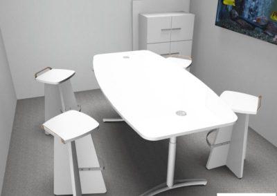 mobilier de bureau à Caen - Espace Nomade - Visuel 3D