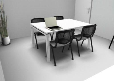 mobilier tertiaire à Caen - Visuel 3D