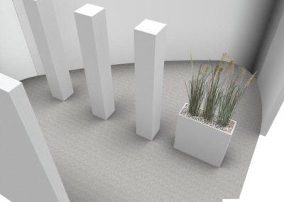 mobilier salle d'attente à Caen - Espace créativité - Visuel 3D