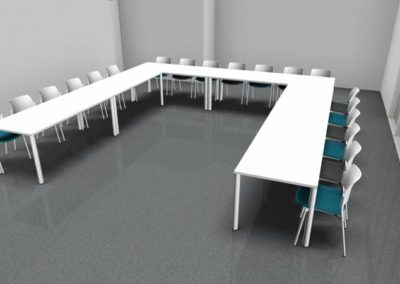 mobilier salle de réunion ou formation à Caen - Visuel 3D