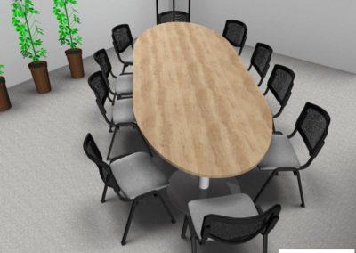 mobilier salle de réunion à Caen - Visuel 3D