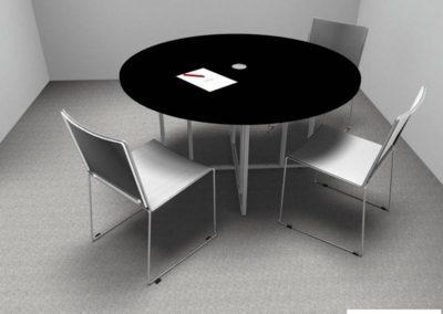 mobilier directeur (tables et chaises de bureau) à Caen - Visuel 3D
