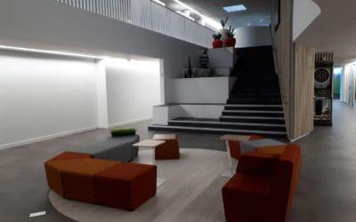 Aménagement en mobilier de bureau du groupe Récréa à Caen