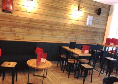 Décoration & relooking d'intérieur d'un bar de tapas à Bayeux