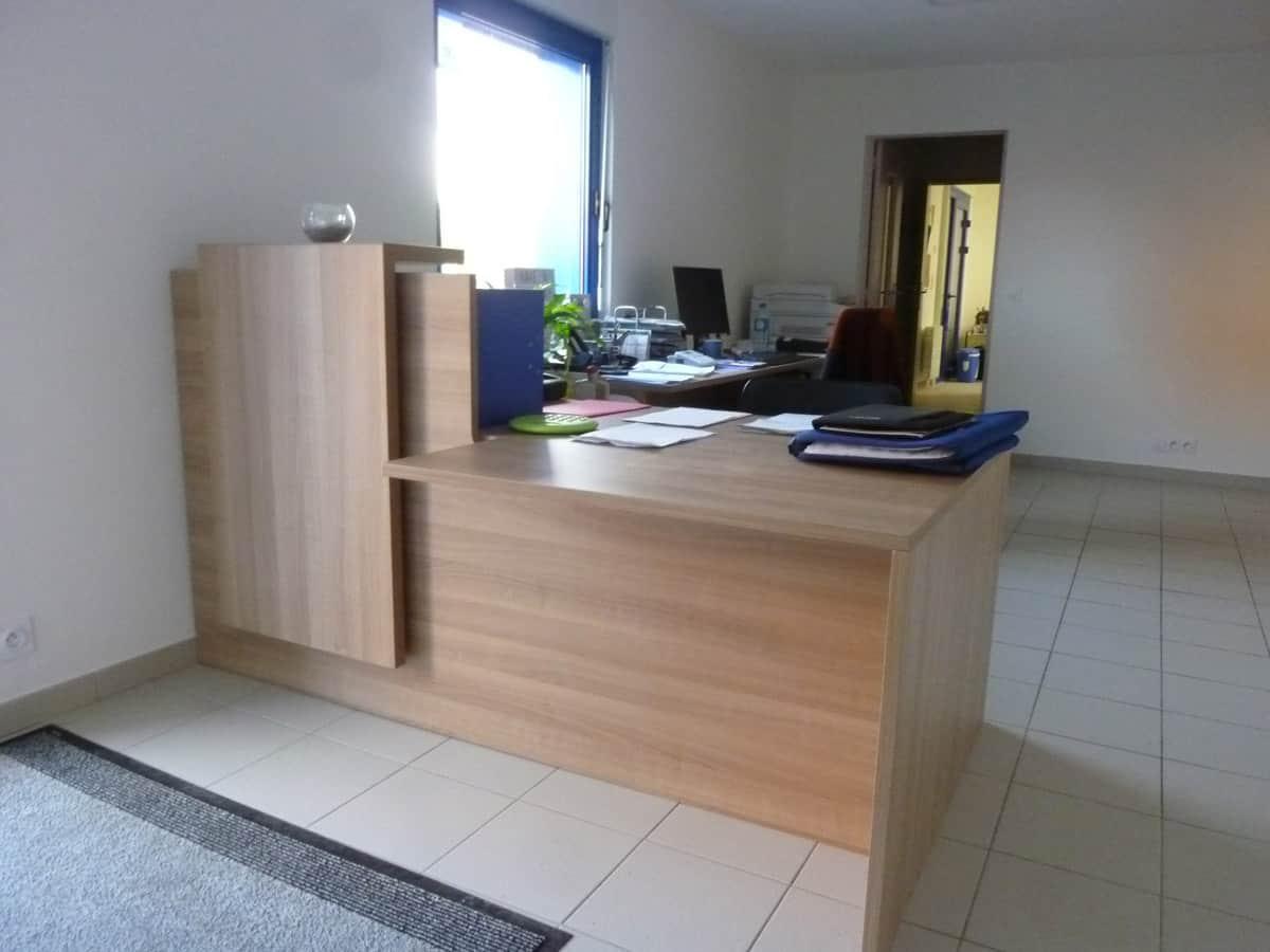 Équipement en mobilier de bureau - Banque d'accueil en Normandie (Calvados -14)