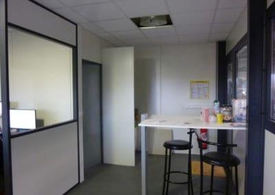 Cloisons modulaires installés à Villers Bocages, dans le Calvados 14 en Normandie