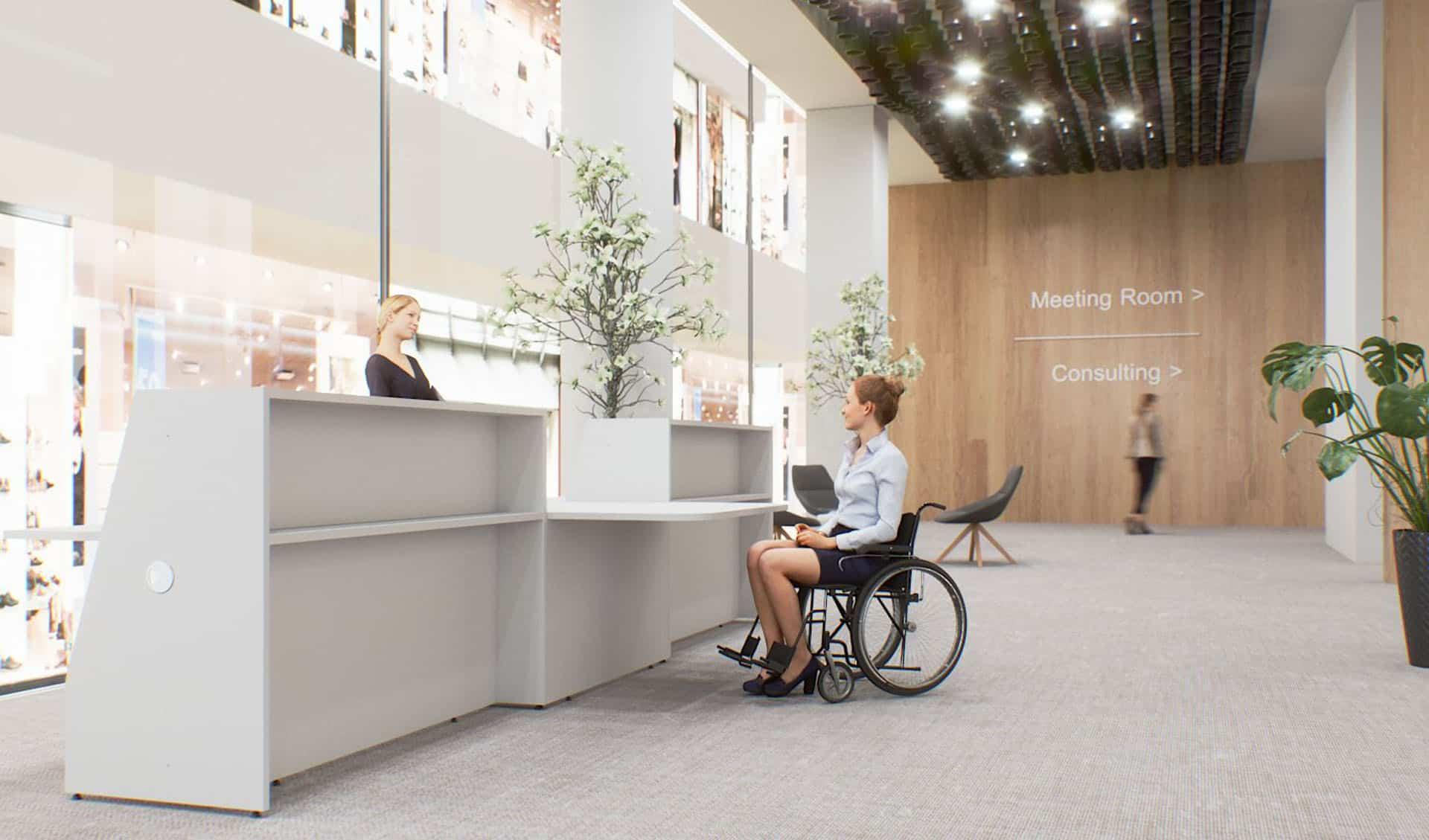 Banque d'accueil à Caen, Bayeux (Calvados-14) en Normandie - Buronomic Bienvenue PMR