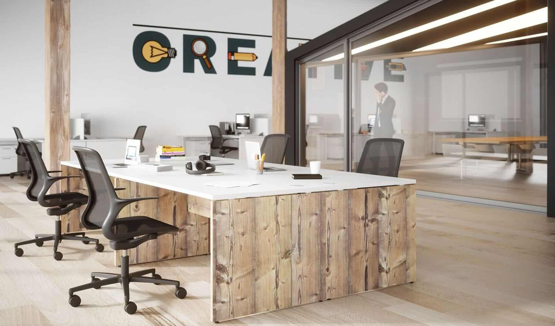 meuble de bureau individuel à Caen Bayeux en Normandie - Buronomic Retro