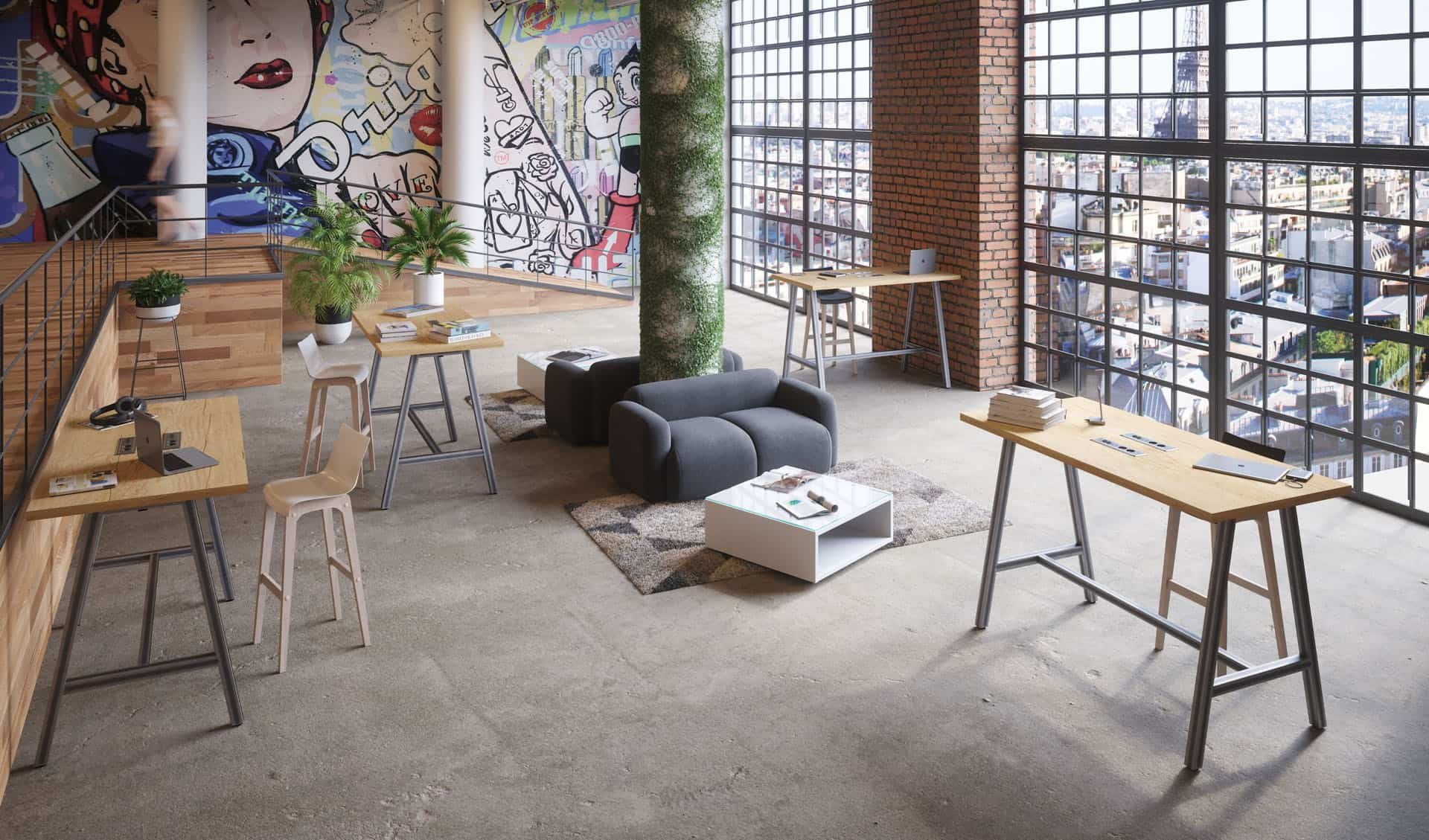 mobilier de coworking, open spaces, lounge à Caen (Calvados -14) en Normandie