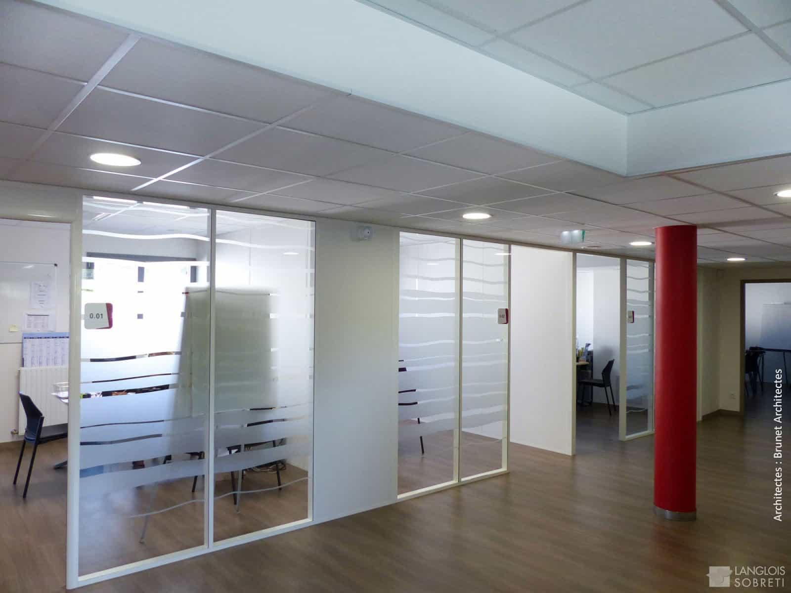 cloisons de bureau à Caen (Calvados -14) en Normandie - Langlois Sobreti