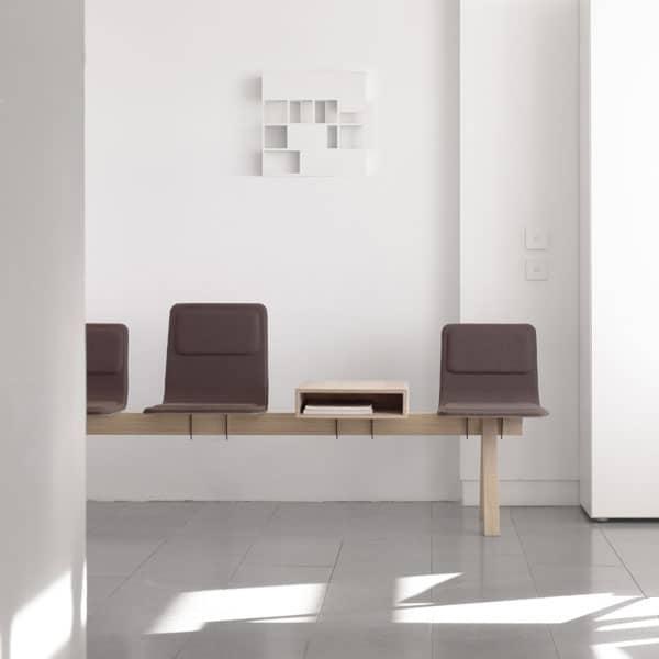 banque de chaises pour salle d'attente à Caen (Calvados -14) en Normandie - Alki LEIBARWORK