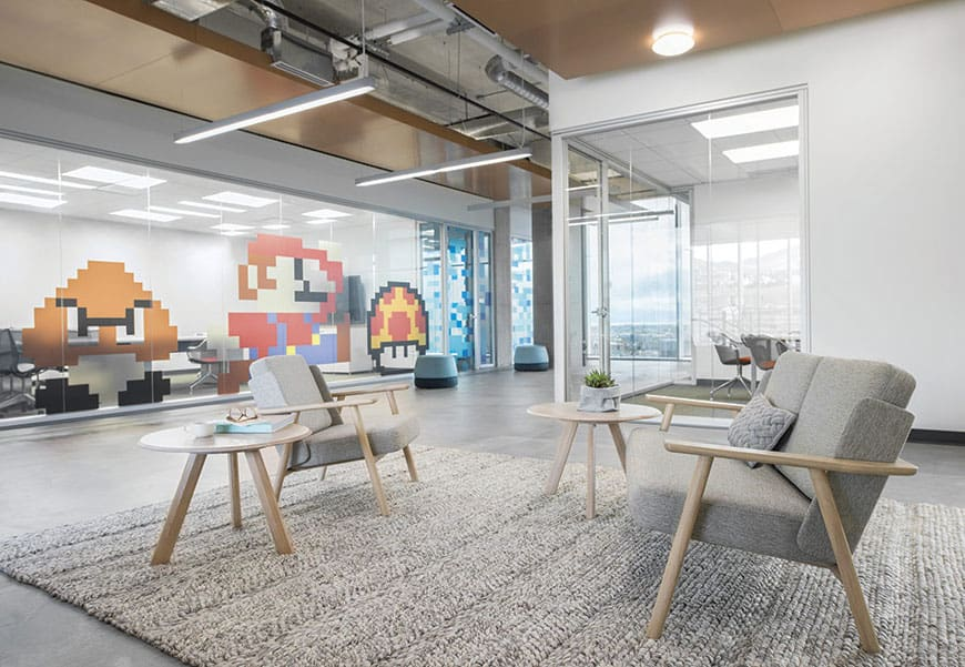 mobilier salle d'attente (canapé, banc, fautueil et table basse) à Caen (Calvados -14) - Alki Teknion-Office