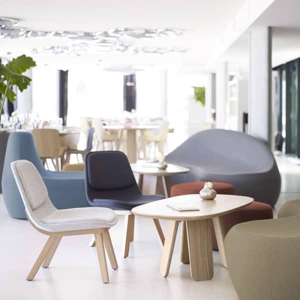 chaises, fauteuils, pouf et table basse pour salle d'attente à Caen (Calvados -14) en Normandie - Alki mucem