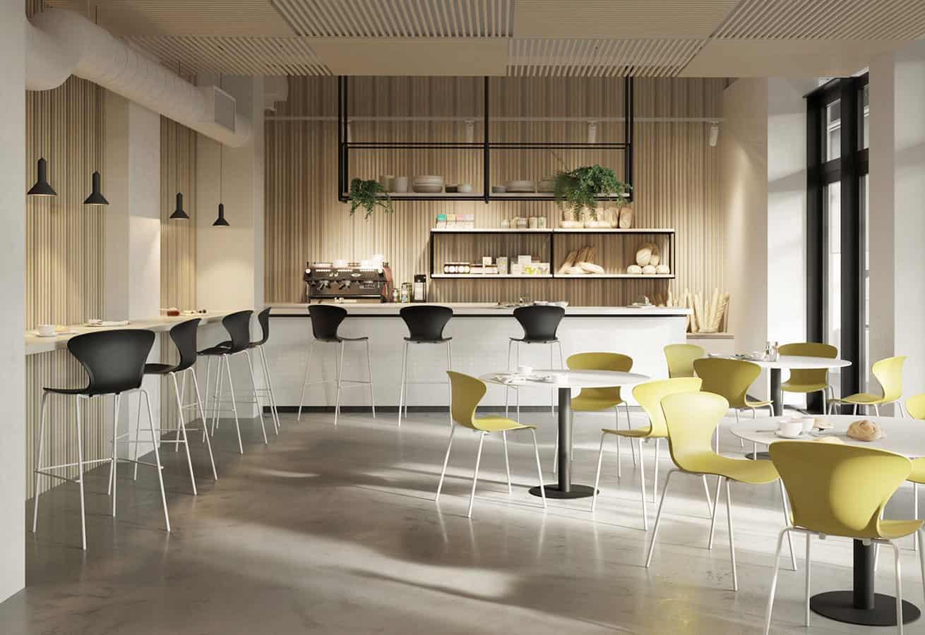 chaises, tabourets, tables pour espace détente - SOKOA Polita Ambiance