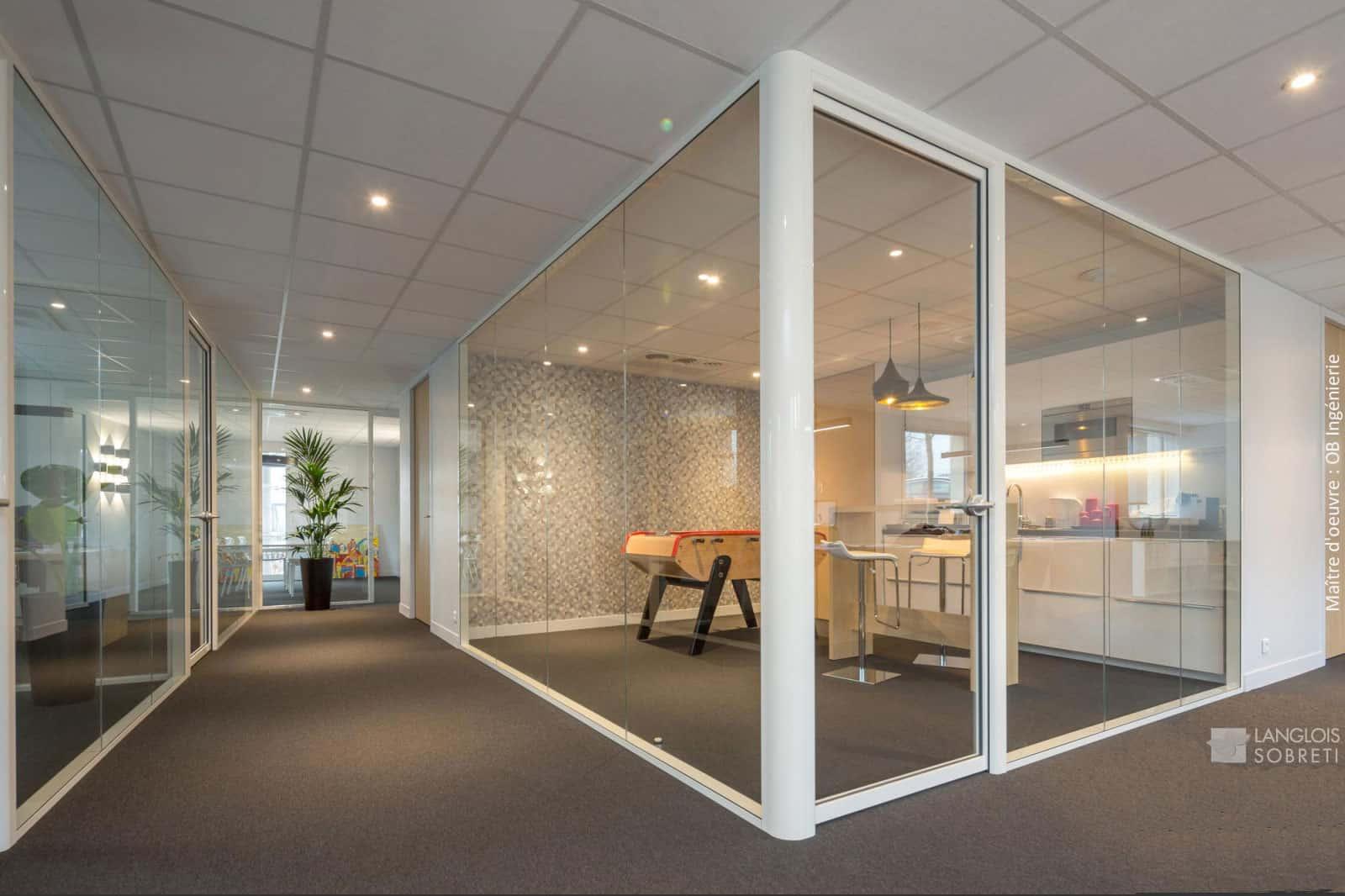 mobilier de bureau - cloisons modulaires - (Caen - Calvados - 14 en Normandie)