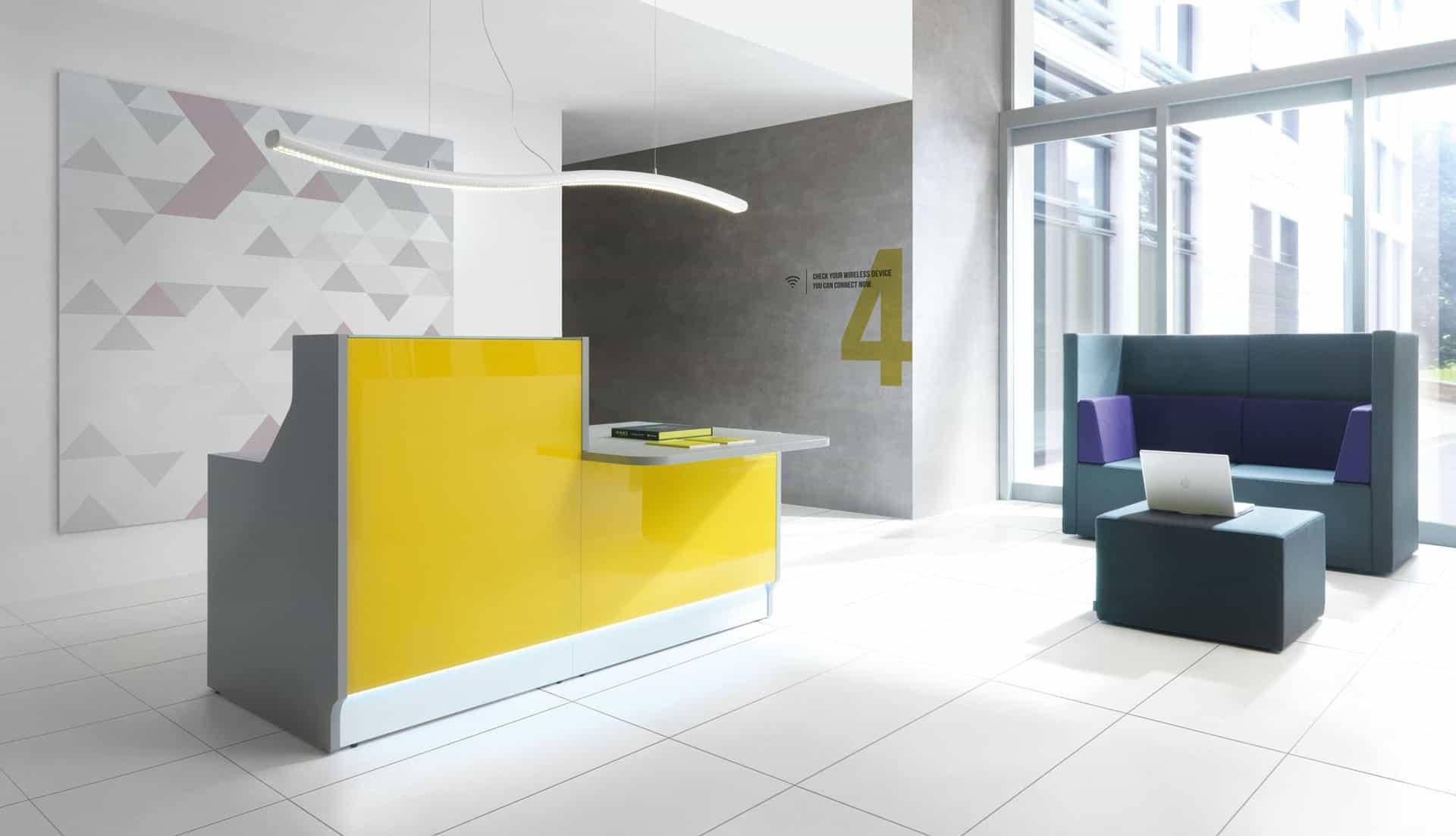 Comptoir banque d'accueil à Caen (Calvados -14) en Normandie - Linea 2-1 MDD