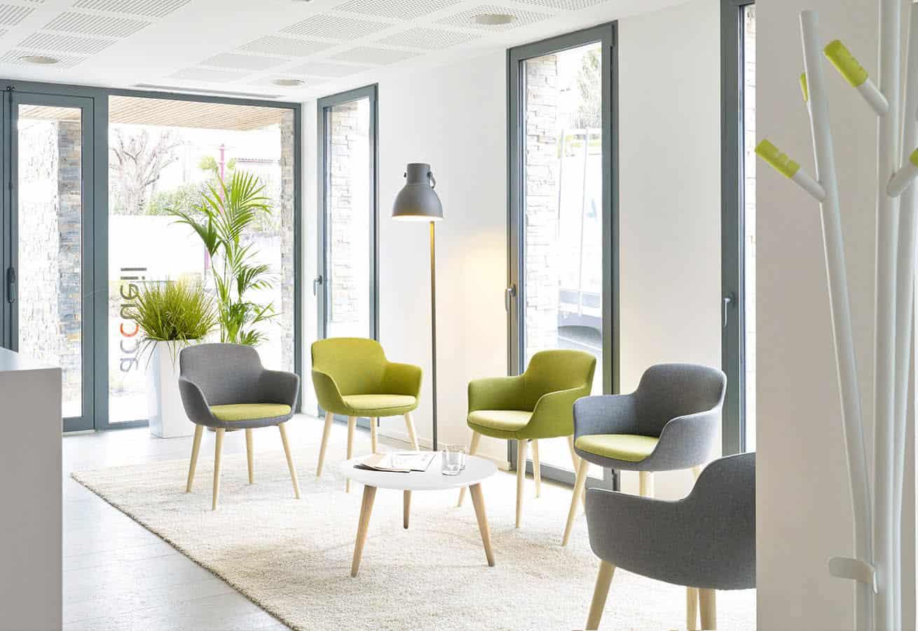 mobilier de salle d'attente (Chaises, fautueils, table basse) à Caen (Calvados -14) en Normandie - Eneka ambiance