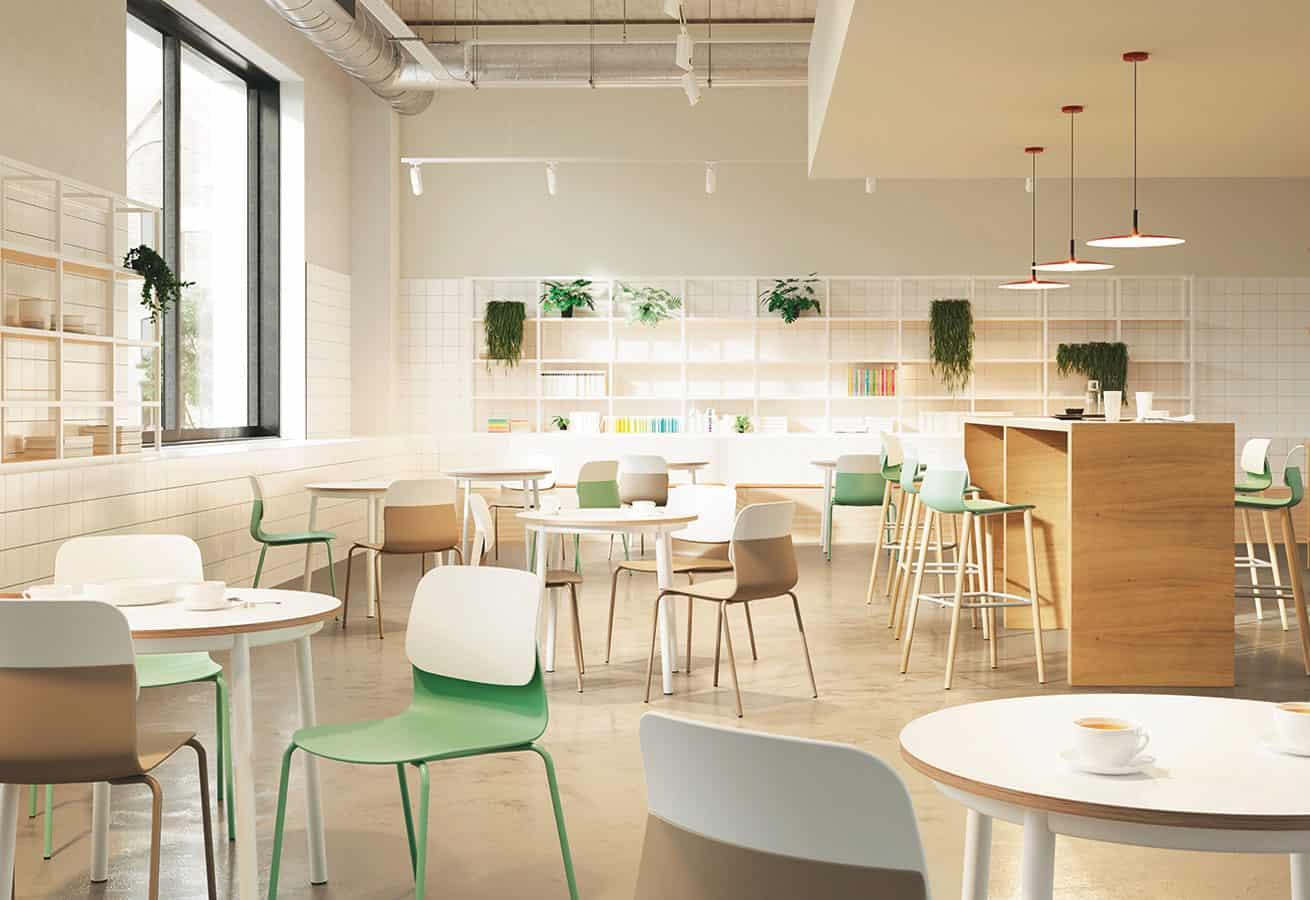 tables et chaises pour espace détente, caféteria - Sokoa Ambiance à Caen (Calvados) en Normandie