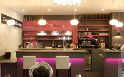 Agencement du restaurant Casserole & Bouchons à Ouistreham, près de Caen