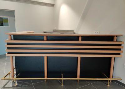 Comptoir-bar en bois & inox dans l'Orne (61)