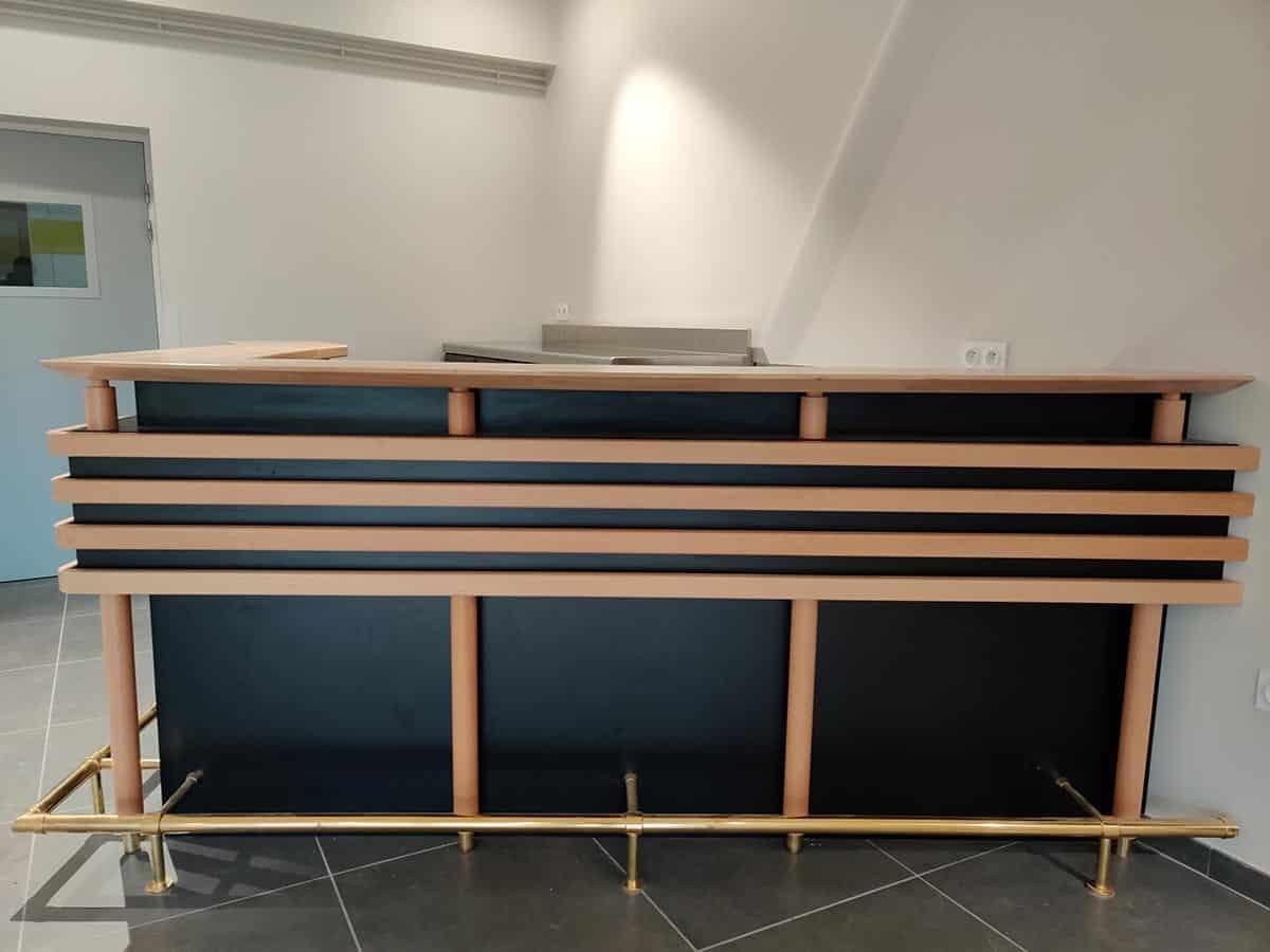 Fabriquer Un Bar En Bois comptoir-bar & arrière-bar en bois & inox dans l'orne (61