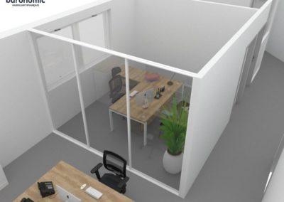 Visuels 3D - Cloisons modulaires et mobilier de bureau - Valence (Rhône-Alpes) - Samsolar