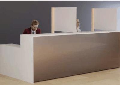 Cloison de protection anti-postillons pour bureau et banque et comptoir d'accueil - Stop COVID 19