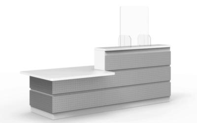 Panneaux & cloisons de protection pour bureau, banque & comptoir d'accueil & de réception, fabriqués en France & en Normandie