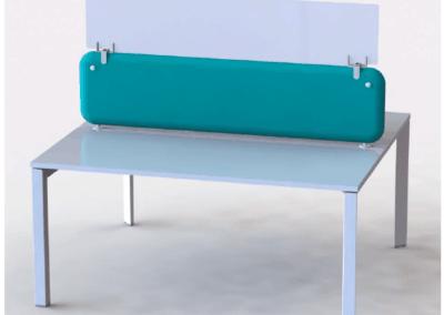 Rehausse de panneau écran en plexiglas pour augmenter la hauteur de la protection