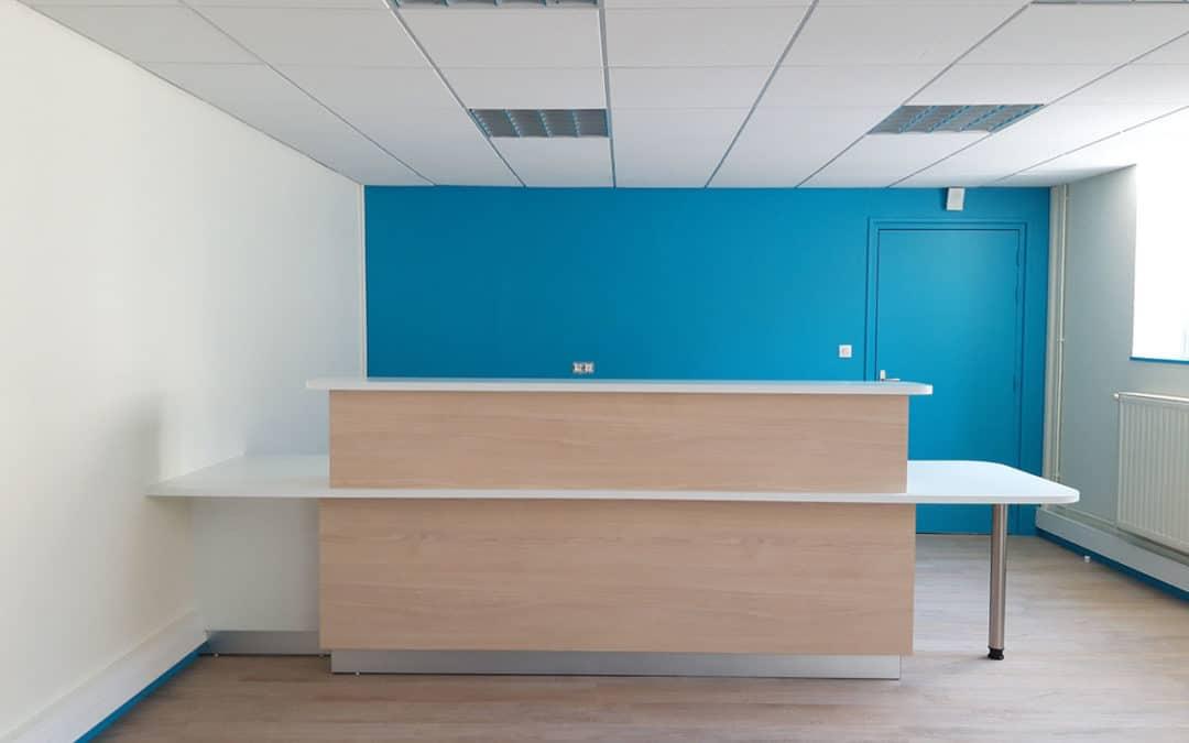 Agencement nouvelle accueil à l'Office du tourisme de Isigny dans le Calvados